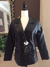 NEW Women's Faux Leather Jacket Size S Italy Styled A Emporio Collezione NWT