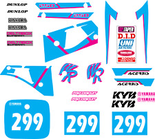 YAMAHA WR 250 1991-1992 Decal Graphic/kit déco/autocollants MX RACING