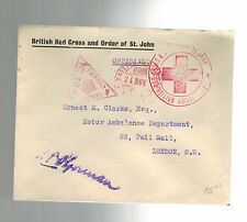 England Censored Cover British Red Cross and Order of St Johns