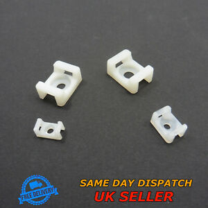 Cable Clip Tie Mount Screw Cradle Holder Clamps Wire Saddle Base