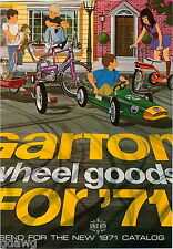 1971 ADVERT Garton Pedal Car Wheel Goods New Super Sprite COLOR