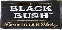 Black Bush Whiskey Cotton Bar Towel  500mm x 250mm (pp)
