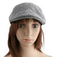 Cappello di Lino Basco Cabbie Gatsby Newsboy Berretto Piatto Duckbill Ivy