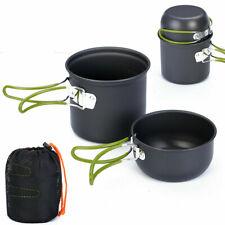 Outdoor Camping Cookware Hiking Portable Picnic Cooking Bowl Pan Pot Set