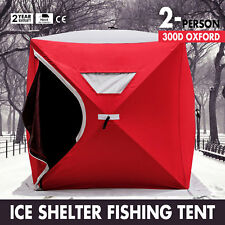 Pop-up 2-person Ice Shelter Fishing Tent Shanty Lightweight w/ Bag Portable