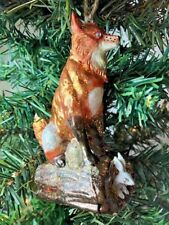 Cody Foster!  Fox with rabbit!  Blown glass!  Christmas Ornament!