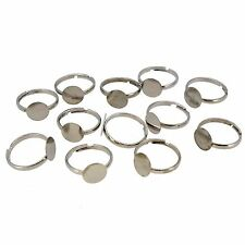 Lot of 12 Ring Bases Jewelry Making Supply Supplies Components Findings with Pad