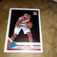 ADMIRAL SCHOFIELD 2019-20 Donruss Optic Rated Rookie #187 Wizards Tennessee RC