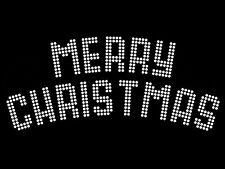 "Diamonte Hotfix Christmas Transfer Rhinestones motif ""Merry Christmas"" - Style 4"