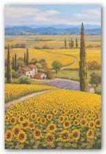 Sunflower Field Sung Kim Asian Art Print 8x10