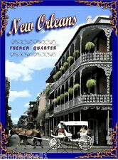 French Quarter New Orleans United States America Travel Advertisement Poster