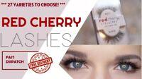 Red Cherry Eyelashes 100% Human Hair False High Quality Lashes TOP QUALITY UK!!