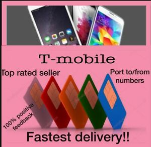 Instant T-Mobile prepaid Port numbers. 917 areacode only. 5-15 Delivery. 14 Day