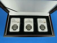 1968.1969,1970 S, 3-Coin Set, Silver Kennedy Half Dollars  NGC  Pf 69 Cameo