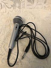 "Realistic Omidirectional 600 Ohms High Ball 2 Microphone W/80"" Plug In Cord"