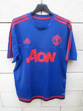 Maillot MANCHESTER UNITED training NIKE football shirt bleu AON jersey M