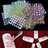 50 Sheets Nail Art Transfer Stickers 3D Flower Tips Decals Manicure Decoration