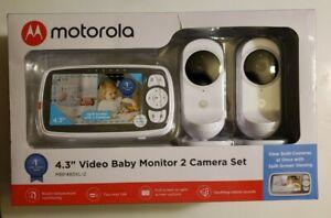 "NEW Motorola MBP483XL-2 4.3"" Video Baby Monitor Camera Set. Split screen option"