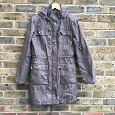 MICHAEL KORS Parka Coat Women's Size Small S Brown Hooded Full Zip