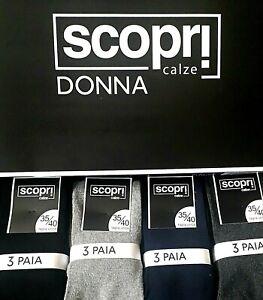 3 calze donna LUNGHE  in CALDO COTONE  art. venere Scopri