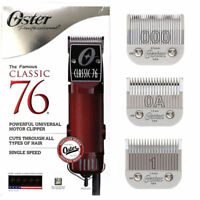 Oster Classic 76 Hair Clipper With Size 0A, 000 & Size 1 Blades Included