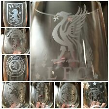 Personalised Glass Various Football Logo Stemmed/Stemless **CHECK INFO**