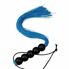 BDSM Pearl hand Role Play rubber thread Whip Flogger Nine Tail Alternative Blue