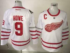 Gordie Howe Detroit Red Wings  #9 Vintage Hockey Jersey White M-3XL