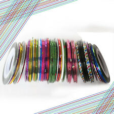 10X Hot Rolls Striping Tape Line DIY Nail Art Tips Sticker  Manicure Accessories