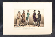 Antique Hand-Colored Print Caricature Rare Book 19th Century Humor Society UK 16