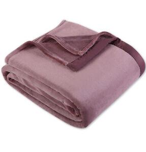 Berkshire TWIN Velvet Plush Blanket Light Purple/Pink Machine Washable