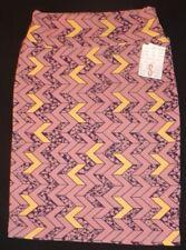 NEW ladies LULAROE purple & yellow Cassie skirt Size small