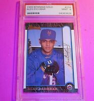 ALEX ESCOBAR 1999 Bowman #214 GOLD Signature SP #d/99 RC PSA 9 MINT Mets Rookie