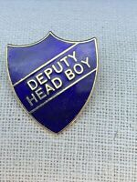 Deputy Head Girl Enamel Shield Badge Green Available In Blue Yellow Or Red