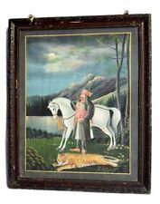 Vintage Decorative Collectible Maharana Pratap Hunting Scene Painting. i54-22
