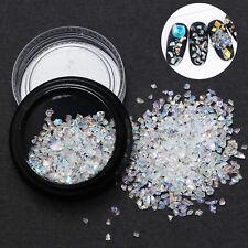 Brillo Polvo Cristal perlas Arte de uñas manicura Decoración Nail Art