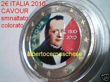 2 euro 2010 ITALIA fdc colorato Cavour Camillo Benso italie italy Italien Италия