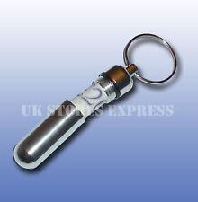 Pill Money Note Keyring in Silver Spy Stash UK SELLER