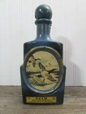 Vintage Jim Beam Decanter J Lockhart Canvasback Ducks Blue Empty Bottle