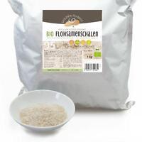 Bio Flohsamenschalen 95% Reinheit 1 kg Beutel indische Flohsamen Psyllium Husks