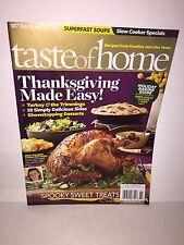 TASTE OF HOME Magazine Holiday Baking Guide Thanksgiving Halloween Oct/Nov 2012