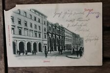 29514 AK Stuttgart Straßen-Ansicht mit altem Bahnhof 1904