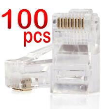 RJ45 Connector CAT6 Plug Crimp 8P8C CAT5e Network Ethernet Cable Modular 100pcs
