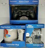 NIB Paladone Official Playstation Controller Alarm Clock + Light + Mug