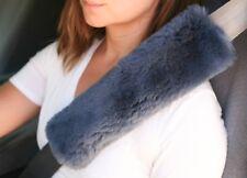 "2 NAVY BLUE 9"" Long Merino Sheepskin Seat Belt Shoulder Strap Pad JMS USA Cover"