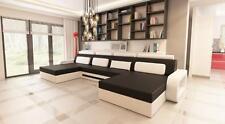 XXL Big U Forme FIRR Canapé Canapé Coussin Garniture en cuir Nouveau! paysage!!!