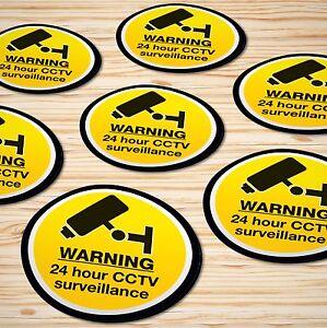 Warning Stickers Self Adhesive Hazard Label Sign Notice ✔24HR CCTV SURVEILLANCE