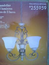 Nib Elegant 3-Lite Chandelier Ceiling Light gold finish