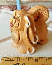 Vintage Artesania Rinconada Sculpture Of A Coated Pekingese Dog Figurine!