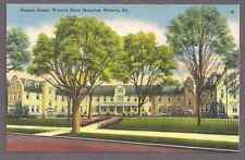 Nurses Home at Warren State Hospital, Warren,  Pa., NOS unused linen postcard